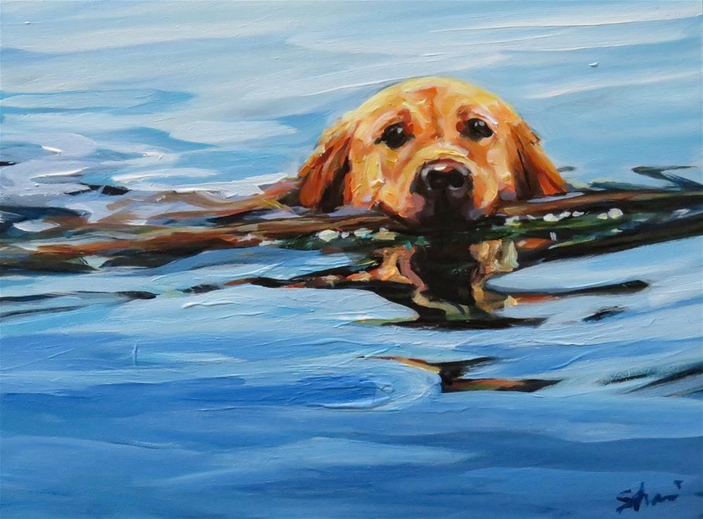 """Calm Water Swimmer"" original fine art by Shari Buelt"