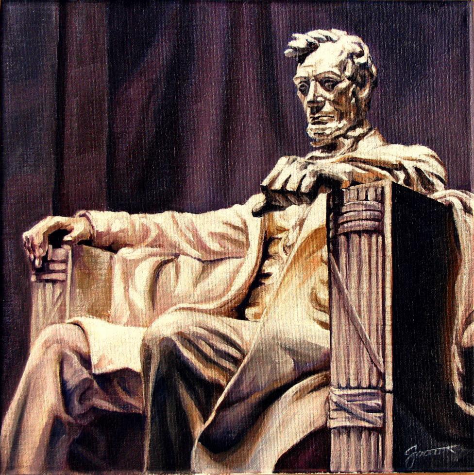 """Chairman of The Mall"" original fine art by Joanna Bingham"