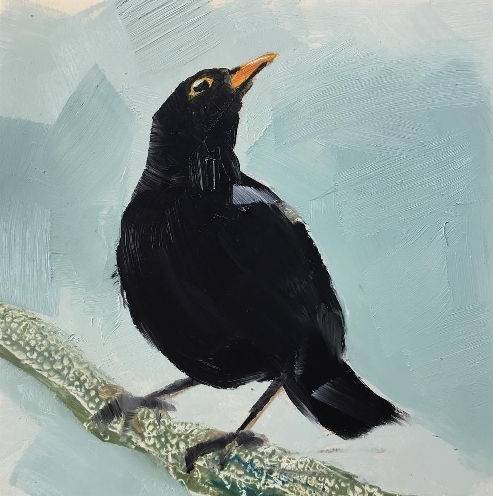 """""""Blackbird"""" original fine art by Philine van der Vegte"""
