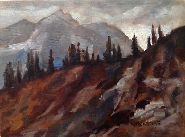 """Light on the Ridge"" original fine art by Marcela Strasdas"