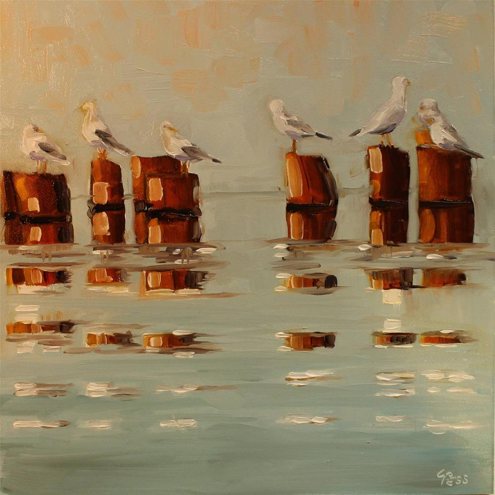 """""""Get Together- The Youngbloods"""" original fine art by Tess Lehman"""