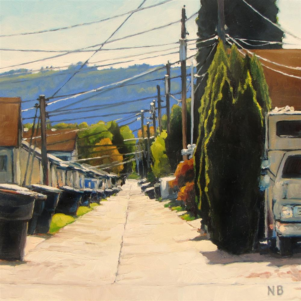 """Up My Alley"" original fine art by Nora Bergman"