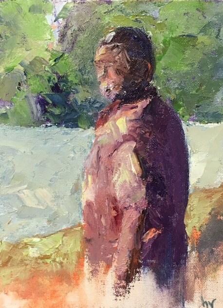 """My Mud Peeps#1"" original fine art by Helen Viebrock Hamel"