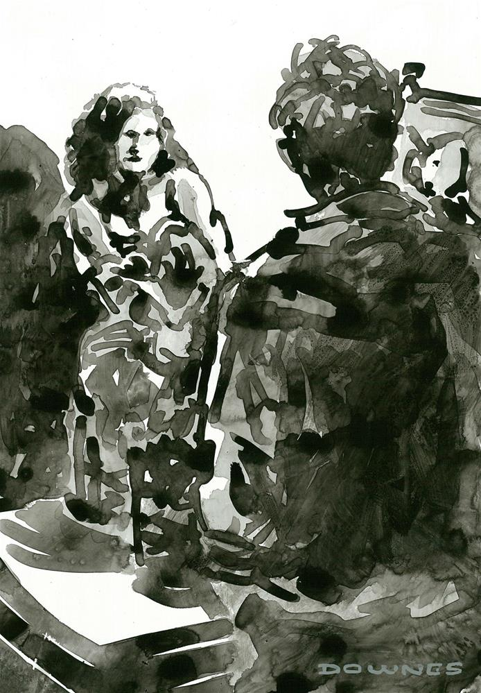 """310 ARTIST & MODEL 5"" original fine art by Trevor Downes"