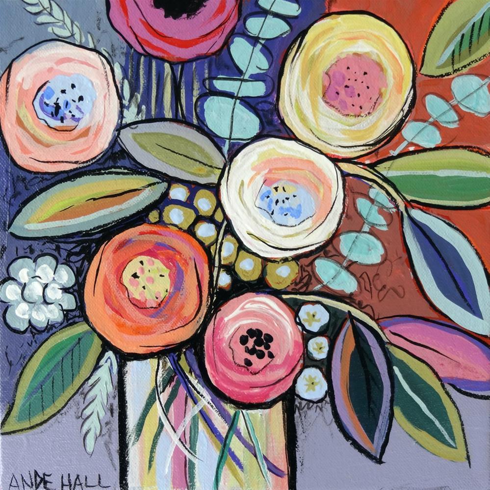 """""""A Jar of Happy"""" original fine art by Ande Hall"""