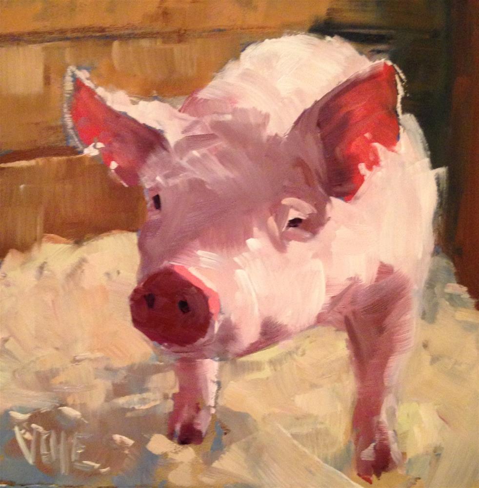 """""""#163 Lil Pig"""" original fine art by Patty Voje"""
