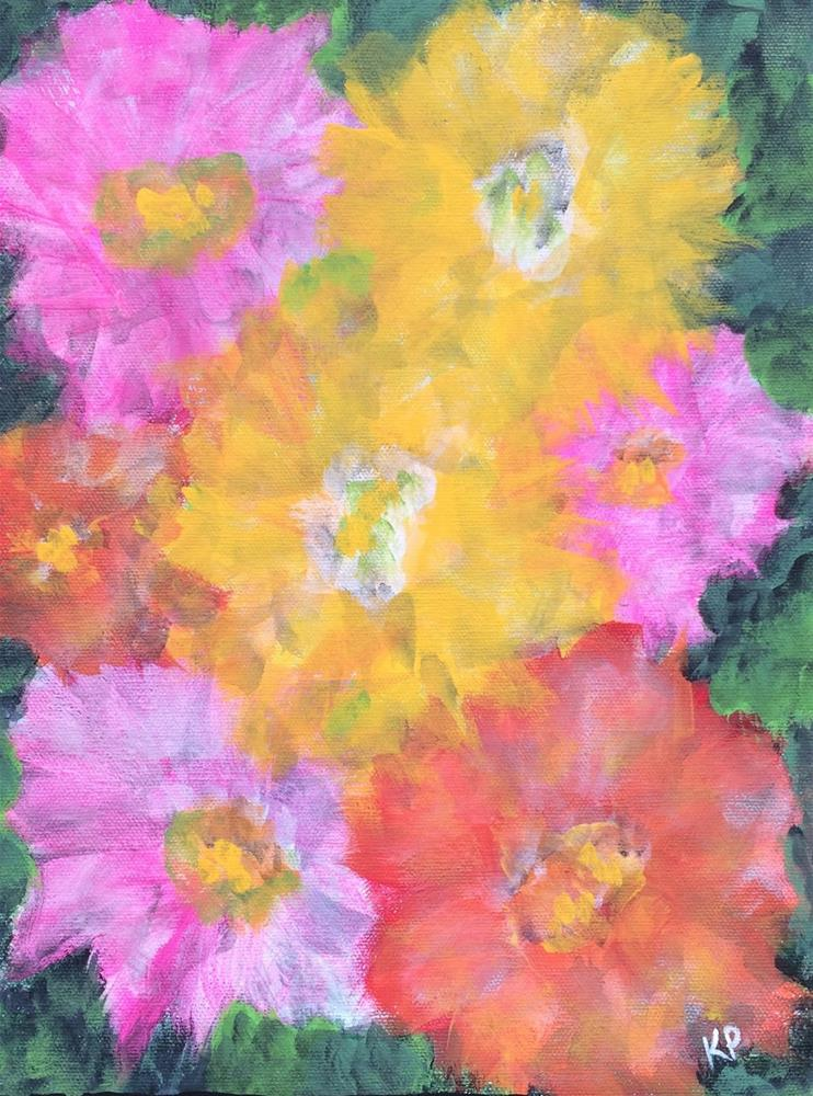 """""""Surrounded by Flowers"""" original fine art by Kali Parsons"""