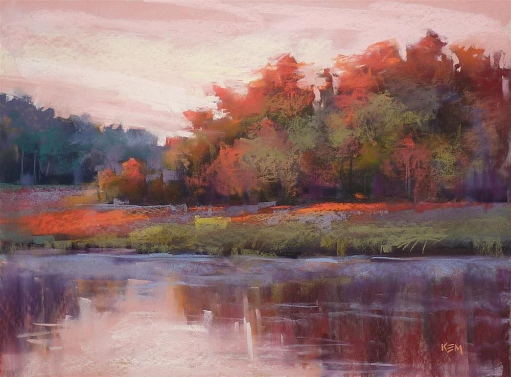 """""""A Magic Trick for Painting Reflections with Pastels"""" original fine art by Karen Margulis"""