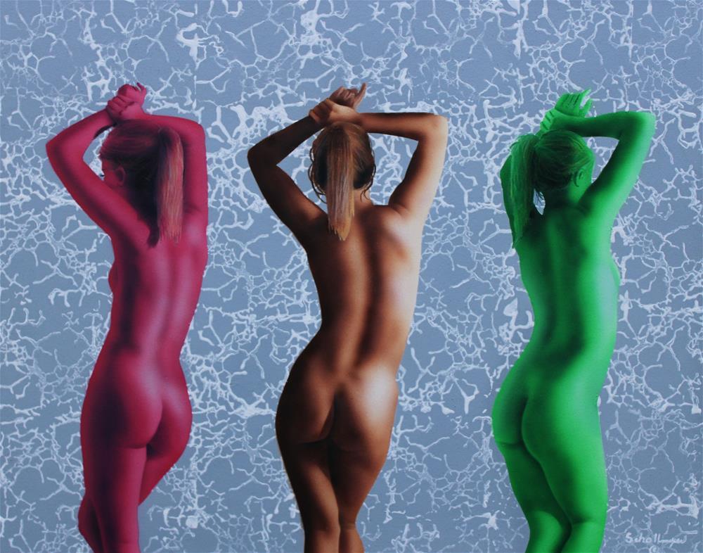 """Triad Nude Study"" original fine art by Fred Schollmeyer"