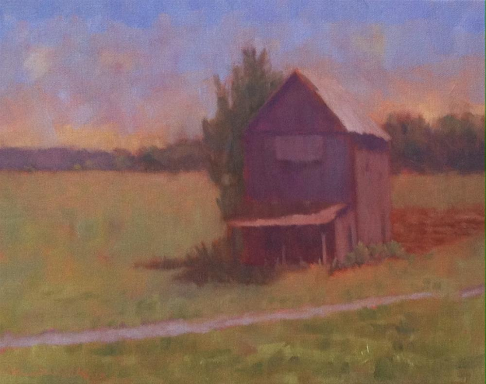 """""""Grey Shed"""" original fine art by Katharine March"""