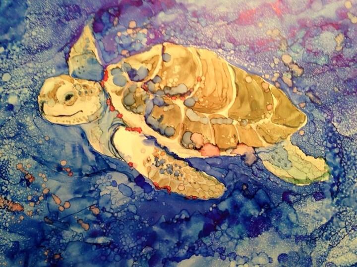 """Under the Sea"" original fine art by Margie Whittington"