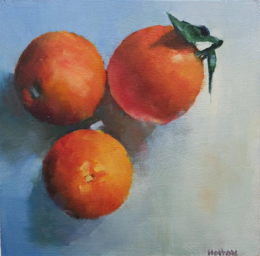 """Sicilian Oranges"" original fine art by Cathy Holtom"