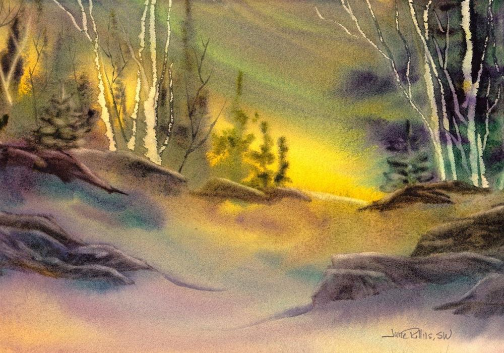 """New Every Morning"" original fine art by June Rollins"