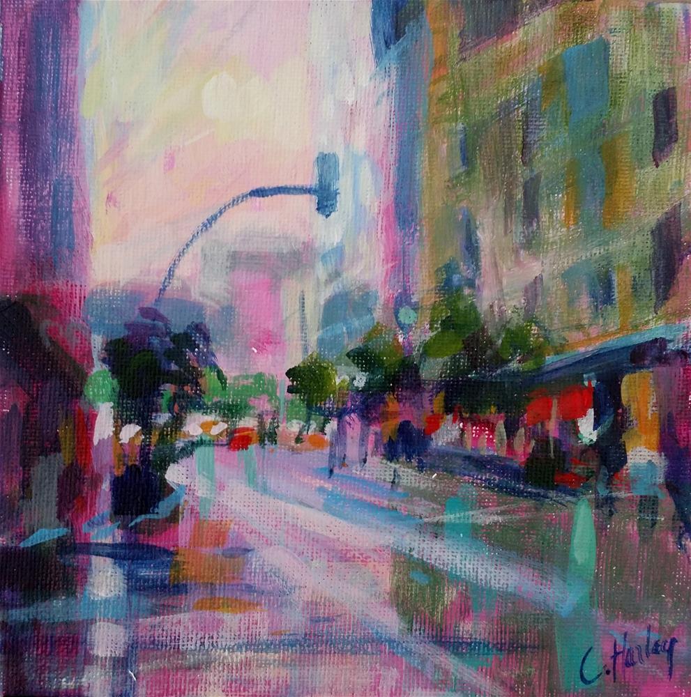"""cityscape n°1"" original fine art by Catherine Harley"