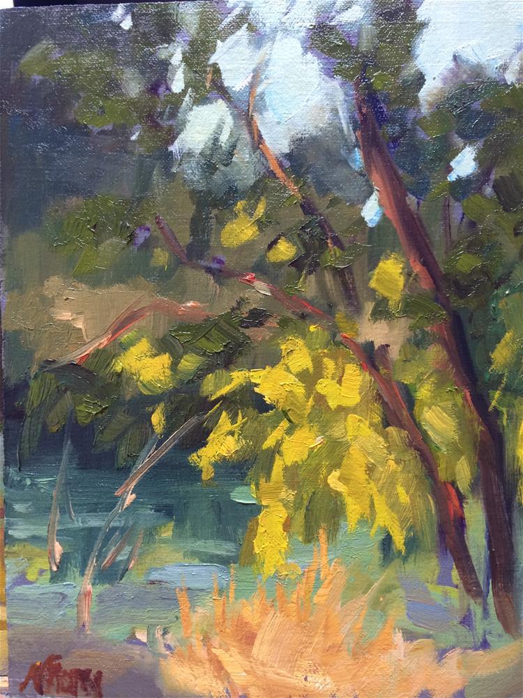 """Putah Creek"" original fine art by Naomi Bautista"