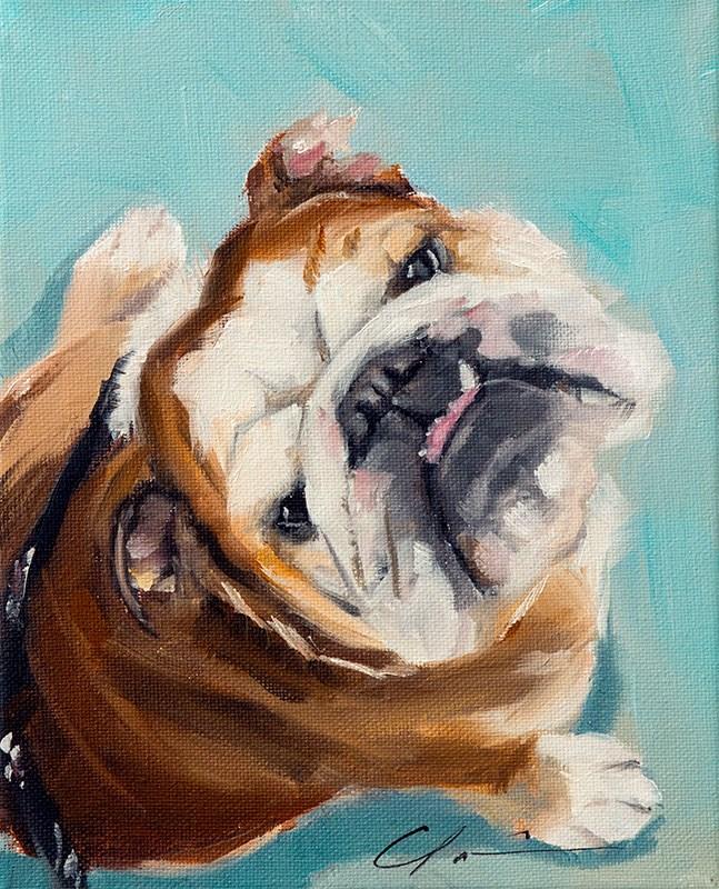 """""""PAINT MY DOG - Huck"""" original fine art by Clair Hartmann"""