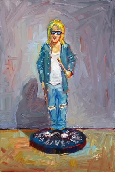 """Garth Algar of Wayne's World Fame (Figurine)"" original fine art by Raymond Logan"