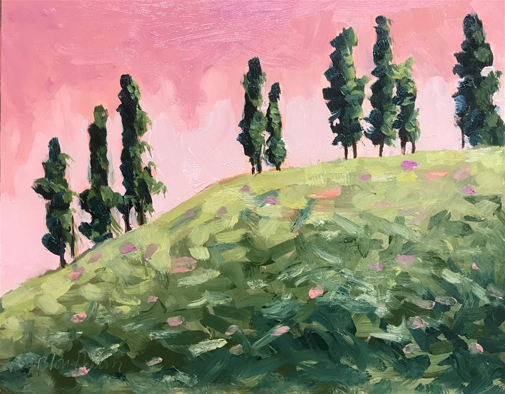 """Italian Poplars"" original fine art by Linda Blondheim"
