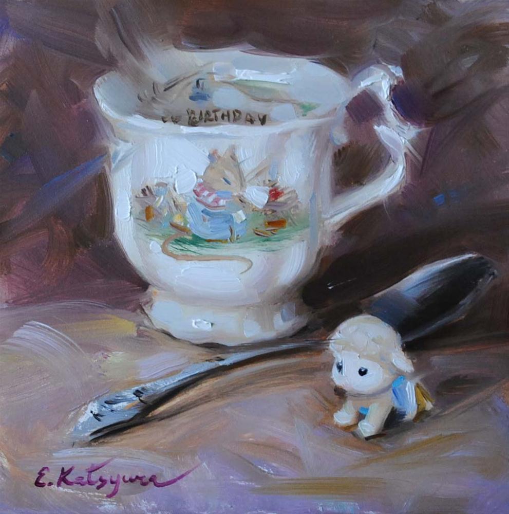 """""""The Birthday"""" original fine art by Elena Katsyura"""