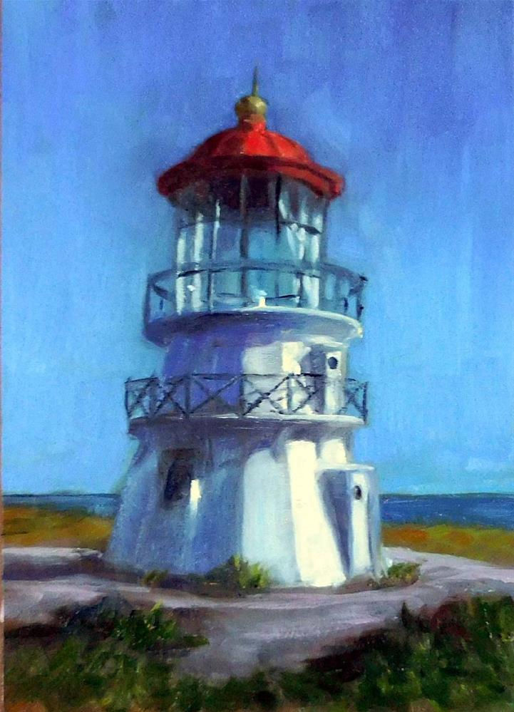 """Shelter Cove Lighthouse"" original fine art by Cietha Wilson"
