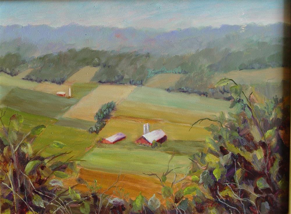 """View From Jack's Mountain"" original fine art by Lina Ferrara"