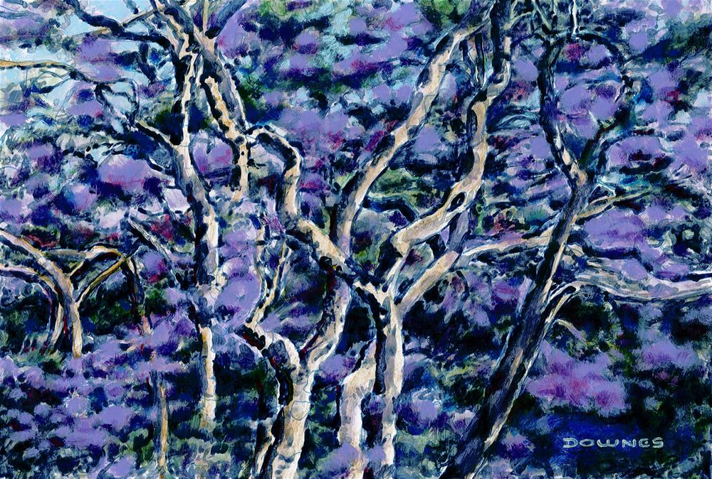 """003 JACARANDA 1"" original fine art by Trevor Downes"