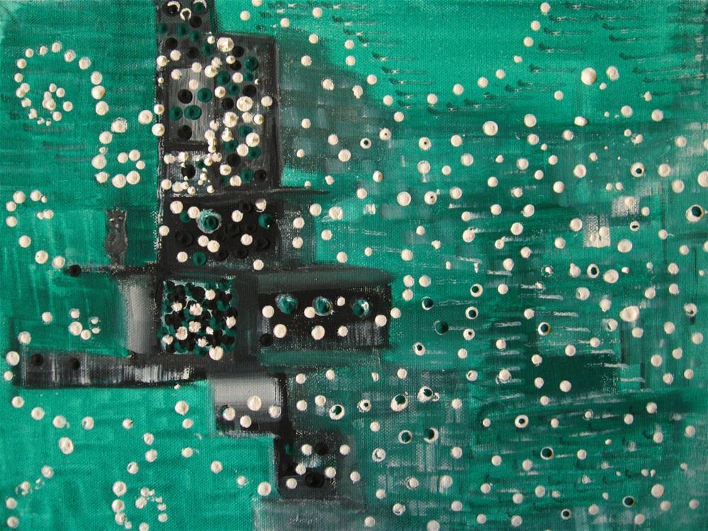 """White Petal Rain"" original fine art by Alina Frent"