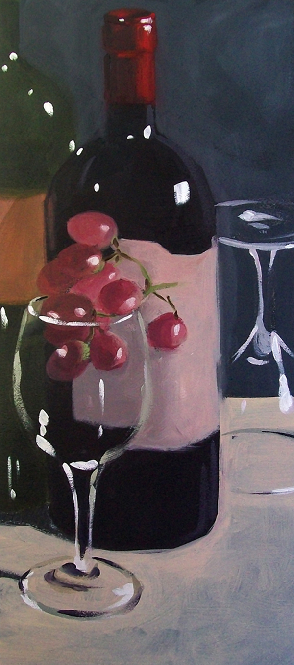 """wino2"" original fine art by Brandi Bowman"