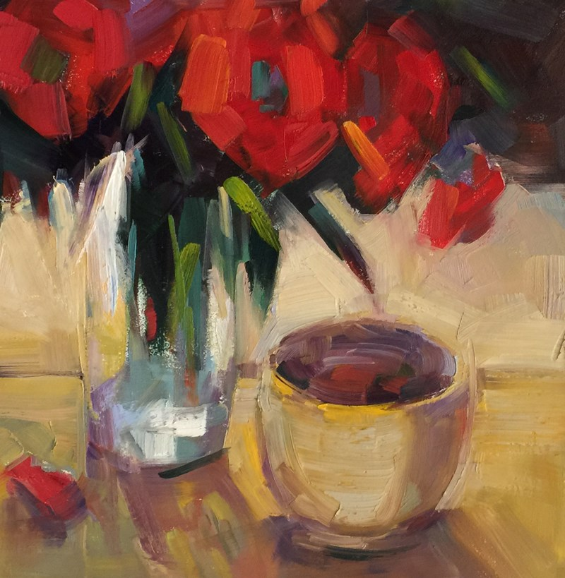 """Vermilion and Ochre"" original fine art by Patti McNutt"