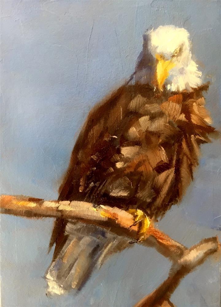 """Bald Eagle"" original fine art by Gary Bruton"