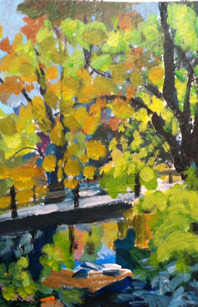 """""""Dpw Autumn Challenge"""" original fine art by Christine Parker"""