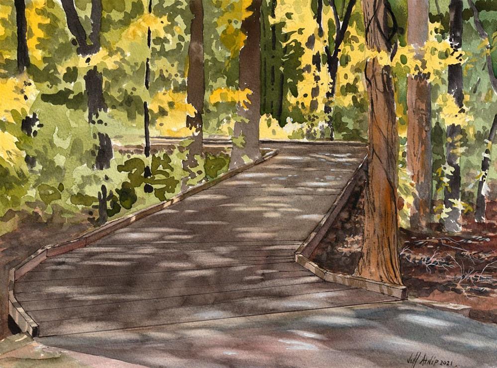 """Start The Boardwalk"" original fine art by Jeff Atnip"