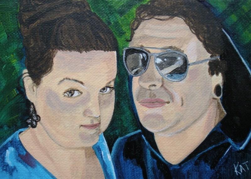 """""""Siblings Too"""" original fine art by Kathleen Carrier"""