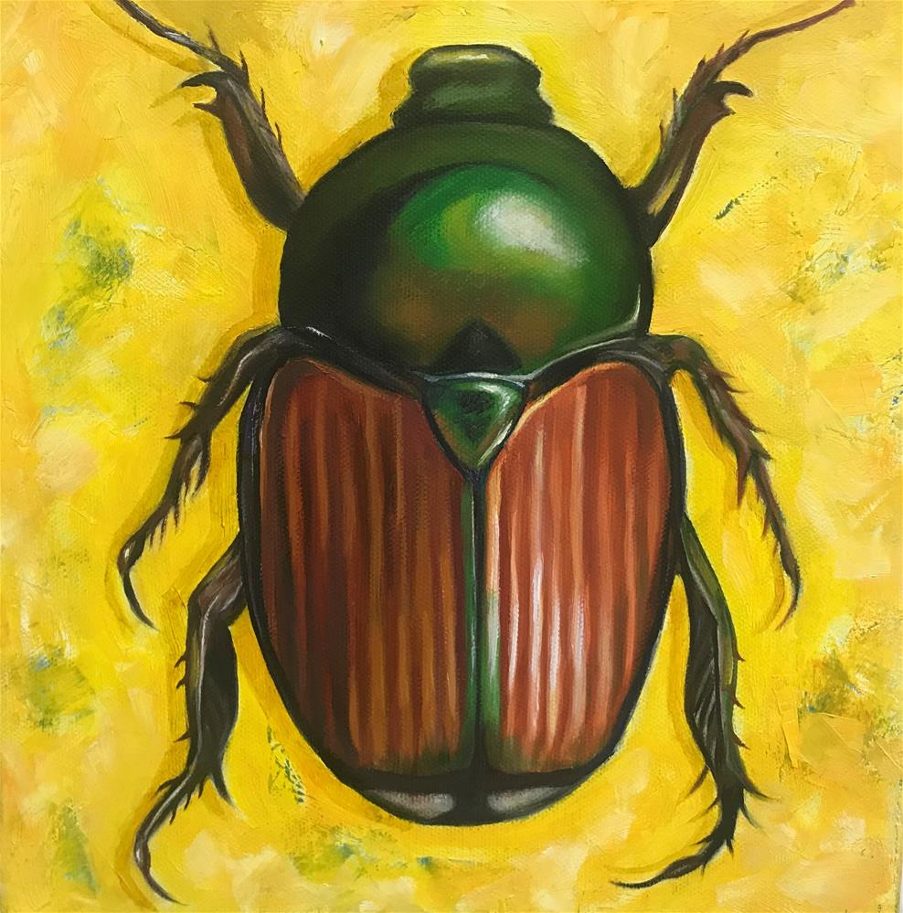 """A Beautiful Pest"" original fine art by Joetta Currie"