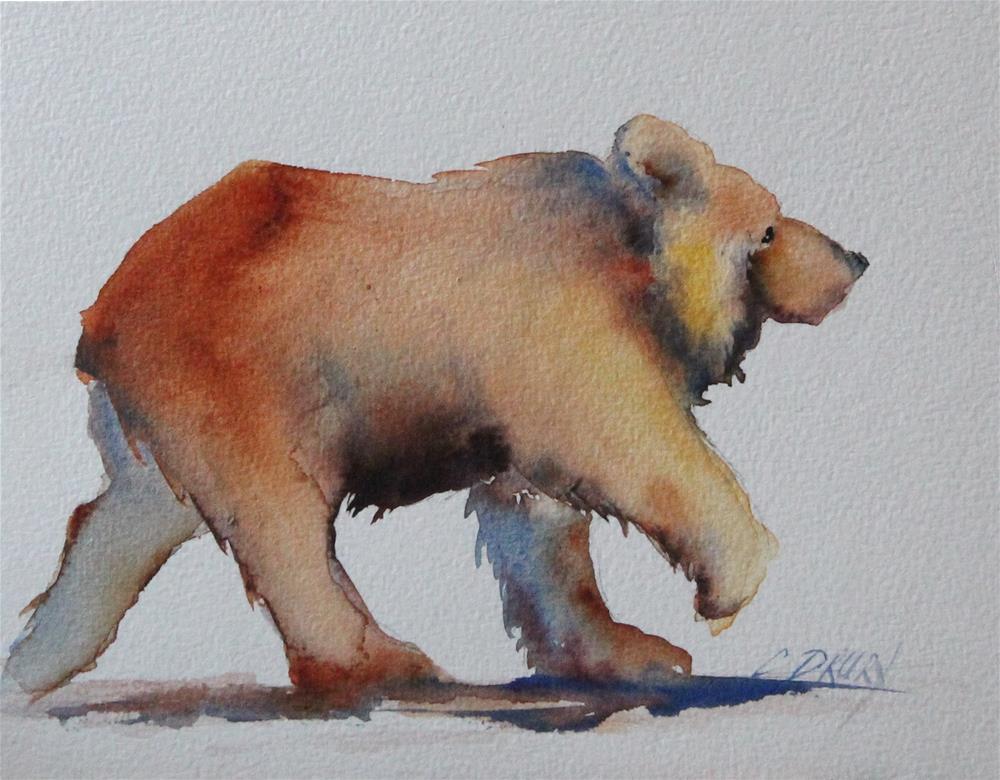 """Happy Bear"" original fine art by Colleen Drury"