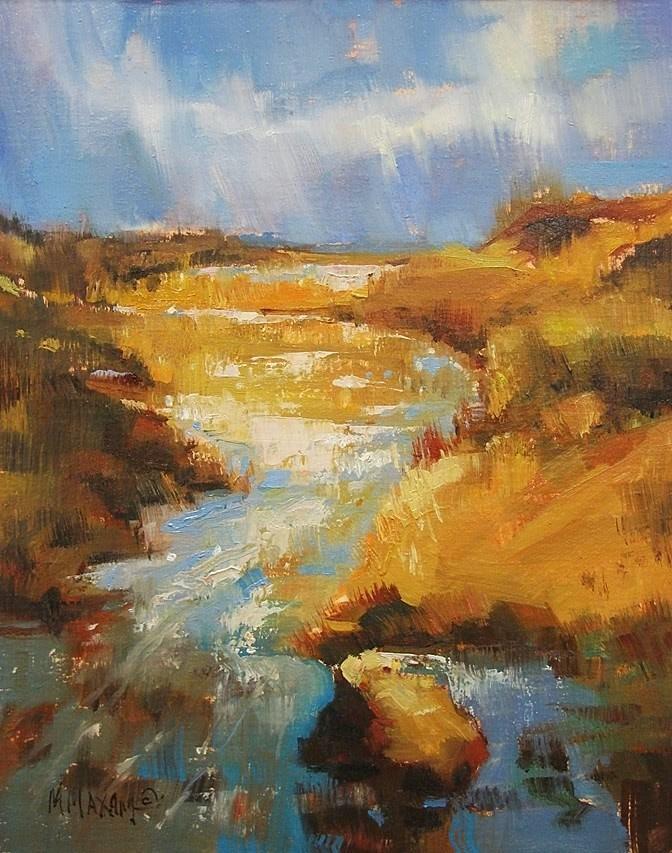 """Light Stream"" original fine art by Mary Maxam"