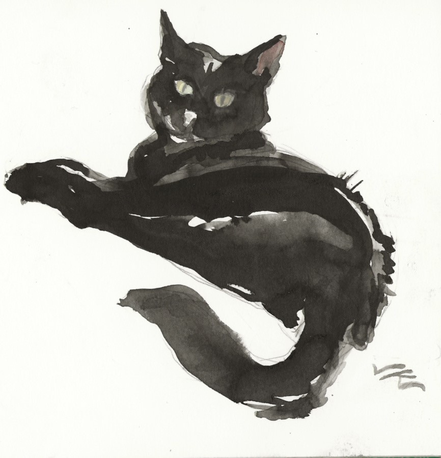 """Daily Cat 70"" original fine art by Jean Krueger"
