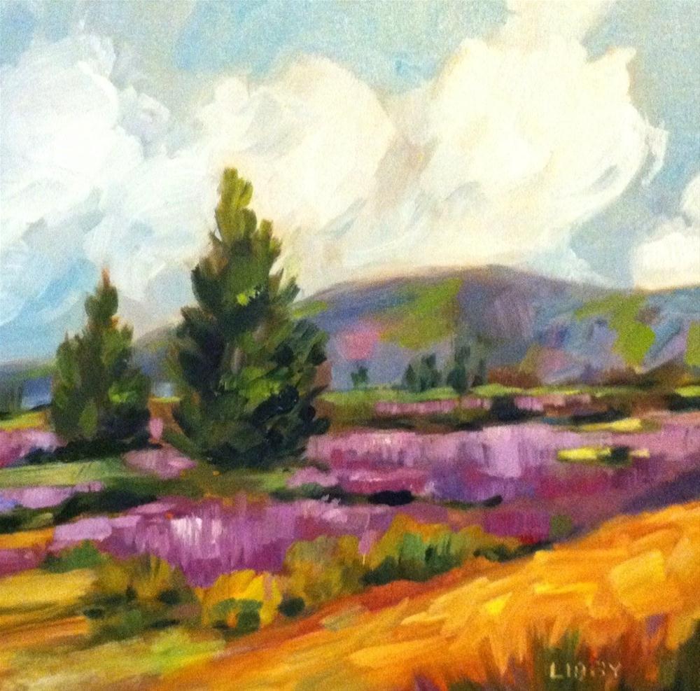 """Lavender Fields"" original fine art by Libby Anderson"