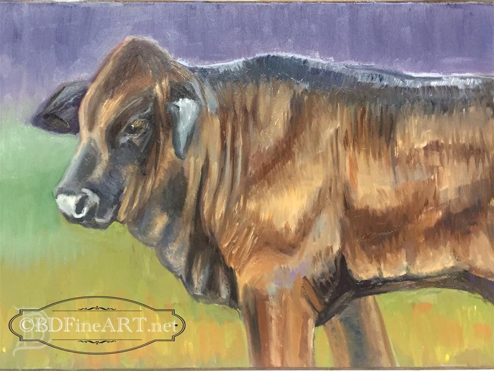 """#1 Calf"" original fine art by Bobbie Deuell"