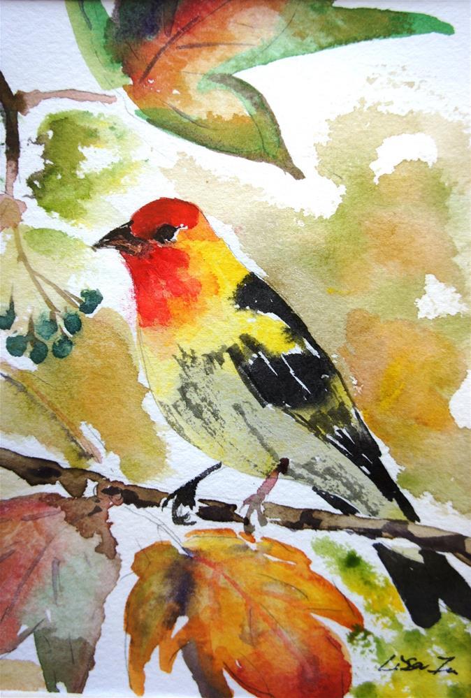 """""""Song bird"""" original fine art by Lisa Fu"""