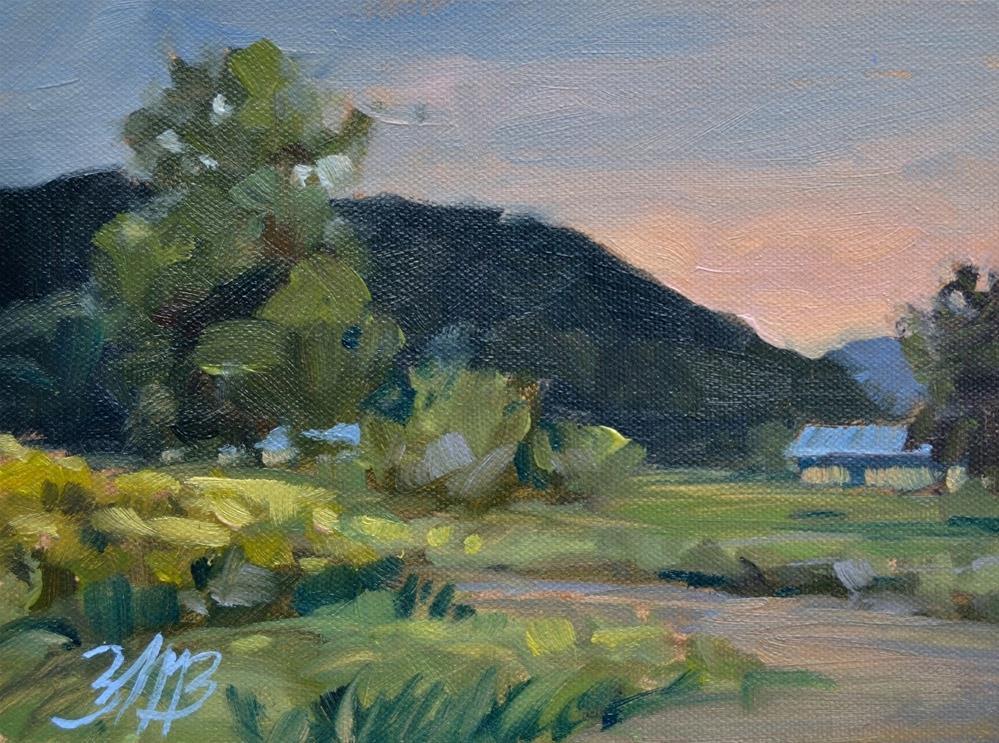 """Evening Light"" original fine art by Brienne M Brown"