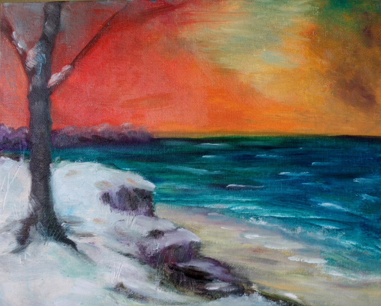 """The Color of Winter"" original fine art by Maggie Flatley"