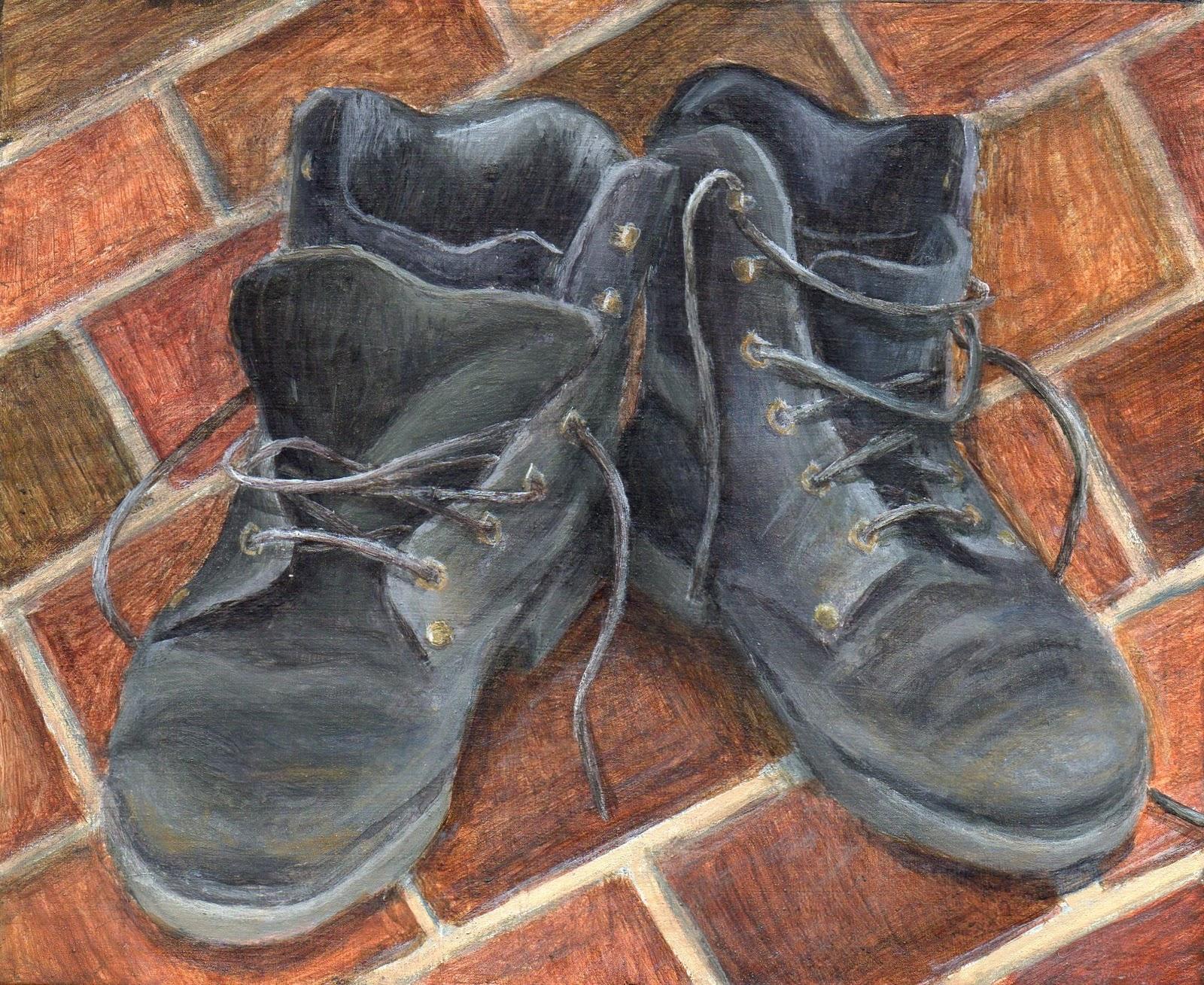 """Take a Walk in  My Shoes"" original fine art by Debbie Shirley"