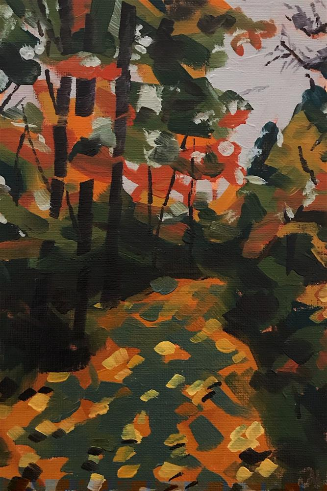 """Walking In The Leaves"" original fine art by Jessica Naish Lingley"