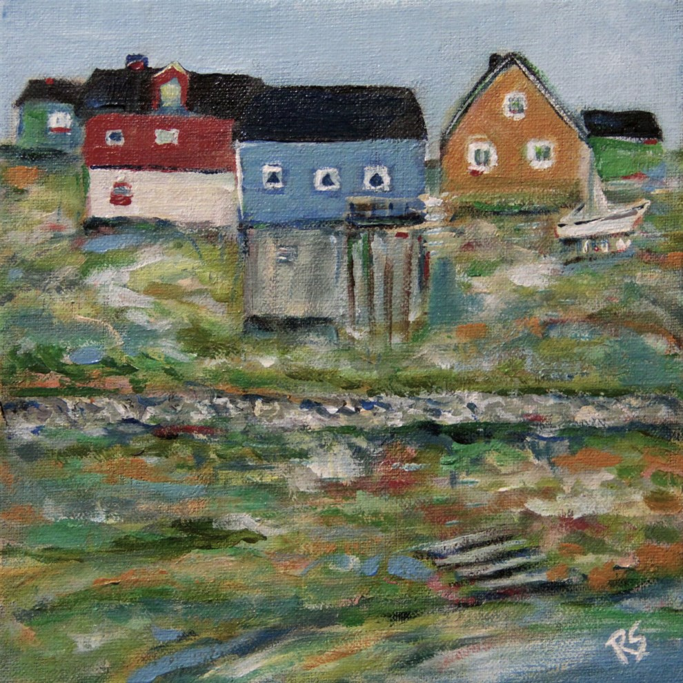 """The Colors of Greenland"" original fine art by Roberta Schmidt ArtcyLucy"