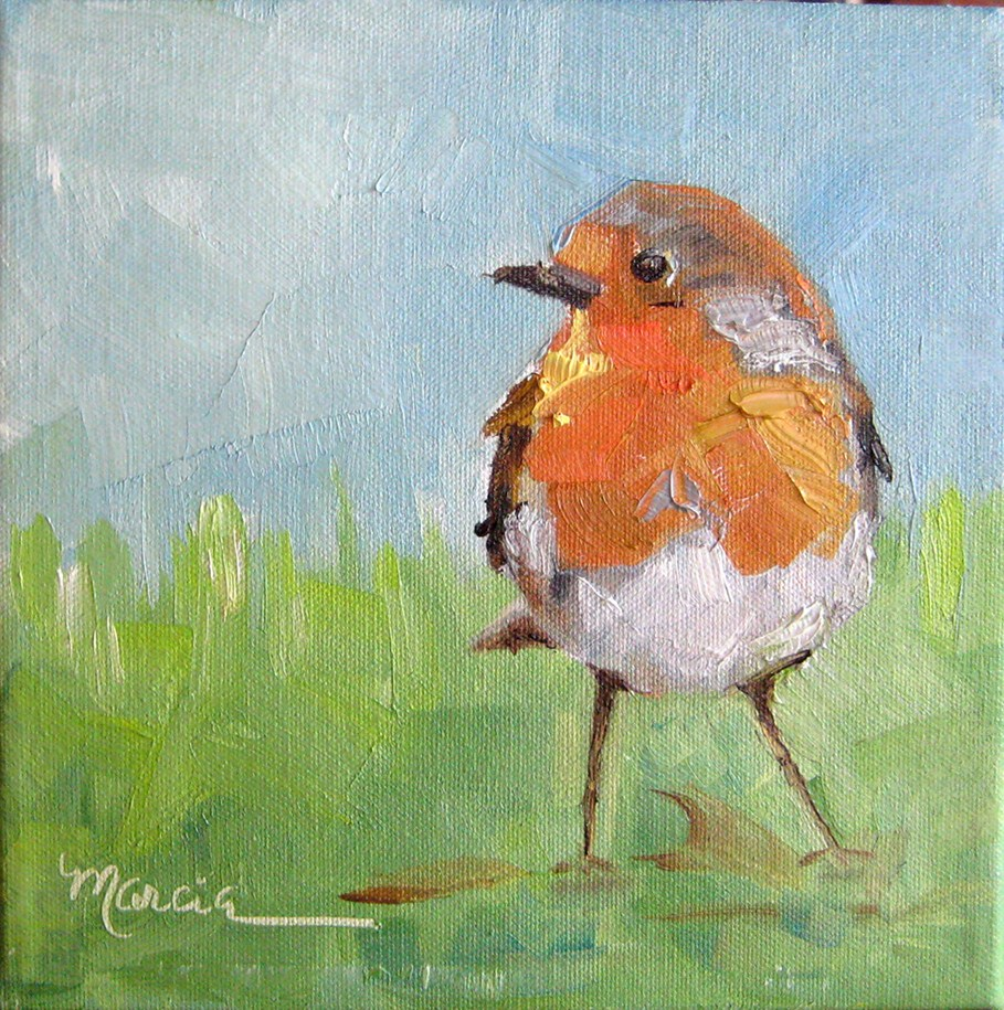 """Round Robin"" original fine art by Marcia Hodges"