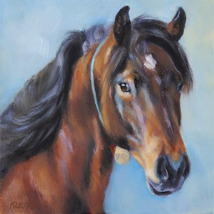 """Mustang"" original fine art by Tracy Klett"