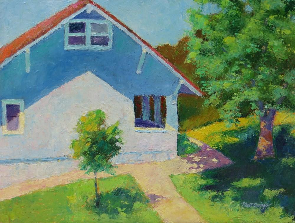 """The Blue House"" original fine art by Rhett Regina Owings"