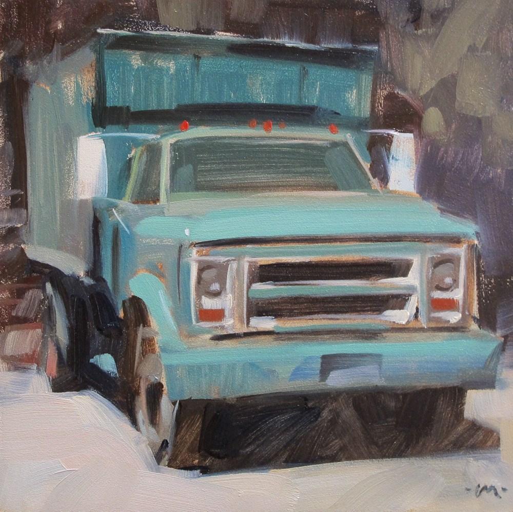 """""""Work Truck"""" original fine art by Carol Marine"""