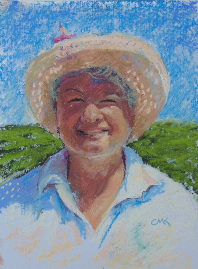 """At the Farmer's Market"" original fine art by Catherine Kauffman"